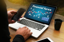 Financial forex Stock market, financial, business Candle stick g. Raph chart stock photography