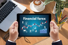 Financial forex Stock market, financial, business Candle stick g. Raph chart royalty free stock photo