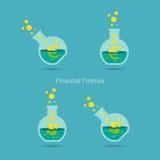 Financial Formula. Vector illustration of dollar and euro financial formula concept Stock Photos