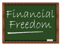 Financial Freedom - Classroom Board Stock Image
