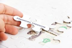 Financial freedom concept Stock Images