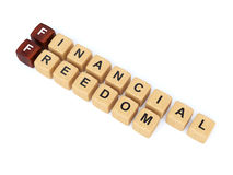 Financial freedom crossword Royalty Free Stock Photo