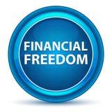 Financial Freedom Eyeball Blue Round Button. Financial Freedom Isolated on Eyeball Blue Round Button royalty free illustration