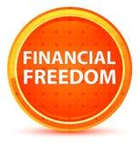 Financial Freedom Natural Orange Round Button stock illustration