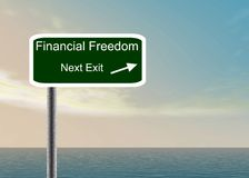 Financial freedom sign Royalty Free Stock Images