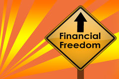 Financial freedon Royalty Free Stock Photography