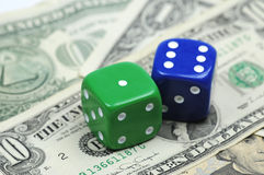 Financial gamble Stock Image