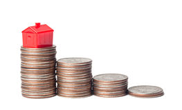 Financial goal of home ownership Royalty Free Stock Image
