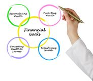 Financial Goals. Presenting diagram of Financial Goals Royalty Free Stock Photos
