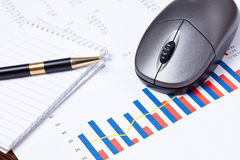 Financial graph Stock Photos