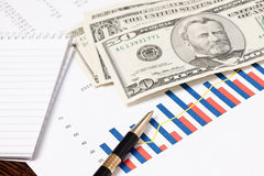 Financial graph Stock Photo