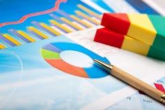 Financial graph Stock Photo