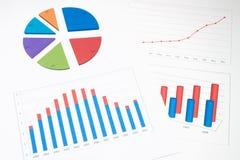 Financial graph Royalty Free Stock Photo