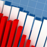 Financial graph. Fine image business background, financial graph 3d Royalty Free Stock Images