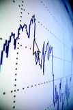 Financial graph Royalty Free Stock Images