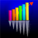 Financial Graph Arrow Up Flat and root growth Vector Illustration Stock Photography