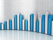 Financial Graph. Financial bar chart 3d metallic texture Stock Photography