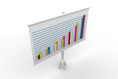 Financial graph board. In white background Royalty Free Stock Image