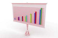 Financial graph board. In white background Stock Photo