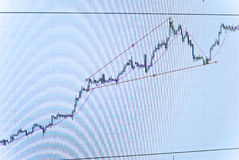 Financial graph business chart Stock Image