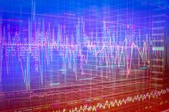 Financial graph chart Stock Photos