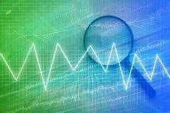 Financial graph chart analysis.jpg. Financial stock market  graph chart analysis background Stock Photo