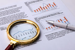 Financial graph and chart Royalty Free Stock Images
