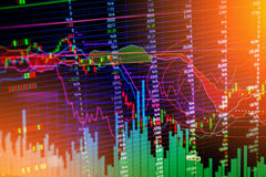 Financial graph chart background Royalty Free Stock Images