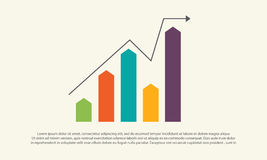 Financial graph chart business design. Vector illustration Royalty Free Stock Image