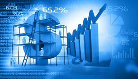 Financial graph chart. Digital design of Financial graph chart Royalty Free Stock Photography