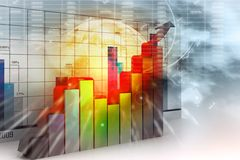 Financial graph chart Stock Photos