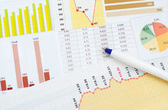Financial Graph Stock Photography