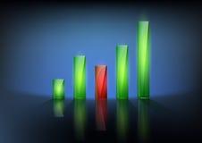 Financial graph chart. Vector illustration of financial graph chart Stock Image
