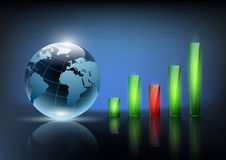 Financial graph chart. Vector illustration of financial graph chart Royalty Free Stock Images