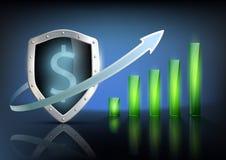 Financial graph chart. Vector illustration of financial graph chart Stock Images