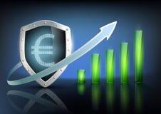 Financial graph chart. Vector illustration of financial graph chart Royalty Free Stock Photography