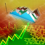 Financial graph. In color background Stock Image