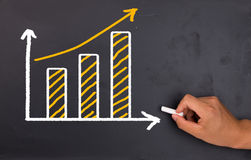 Financial graph Stock Image