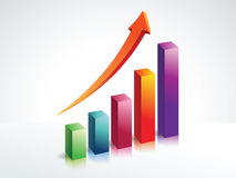 Financial graph with 3d bars. Illustration vector 3d bars. eps 10 files Royalty Free Stock Photos