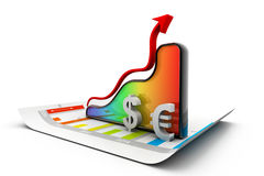 Financial graph. 3d illustration of Financial graph Royalty Free Stock Photos