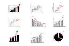 Financial  graph,graph icons. On white Royalty Free Stock Photos