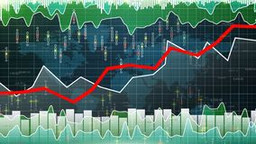 Financial graph on rise going up, market growth, bull stock market gaining value