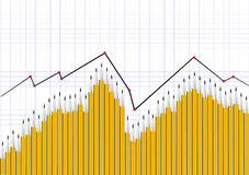Financial graph or stock chart Royalty Free Stock Images