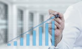 Financial Graph. Stock Market chart. Forex Investment Business Internet Technology concept Royalty Free Stock Image