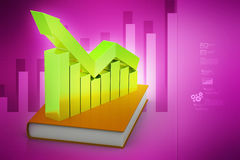 Financial graph in success on book Royalty Free Stock Images