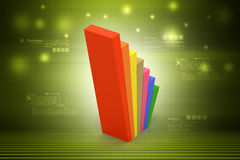 Financial graph in success. In color background Royalty Free Stock Images