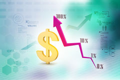 Financial graph in success. In color background Stock Photo