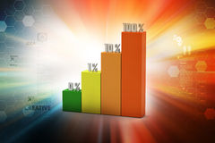 Financial graph in success Royalty Free Stock Images