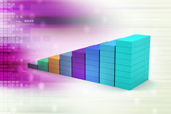 Financial graph in success. In color background Royalty Free Stock Image