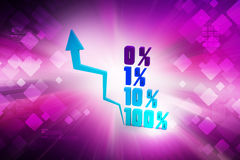 Financial graph in success. In color background Royalty Free Stock Photo